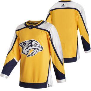 Men's Adidas Nashville Predators 2020/21 Reverse Retro Authentic Jersey (Gold)
