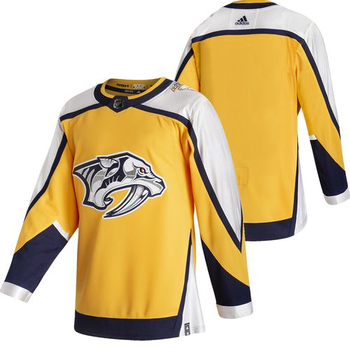 Men's Adidas Nashville Predators 2020/21 Reverse Retro Authentic Jersey (Gold)