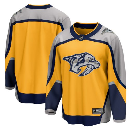 Men's Fanatics Nashville Predators 2020/21 Reverse Retro Breakaway Jersey (Gold)
