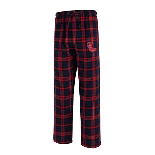 Men's Ole Miss Rebels Parkway Flannel Pant (Navy/Red)