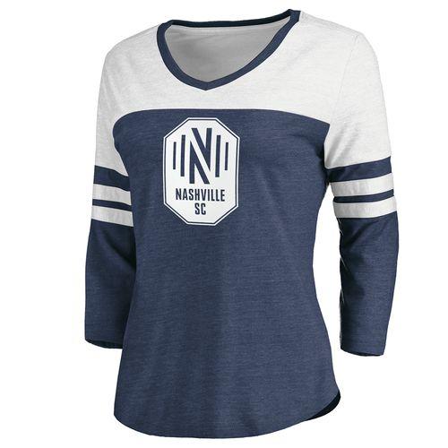 Women's Fanatics Nashville Soccer Club Flock 3/4 Sleeve Shirt (Navy)
