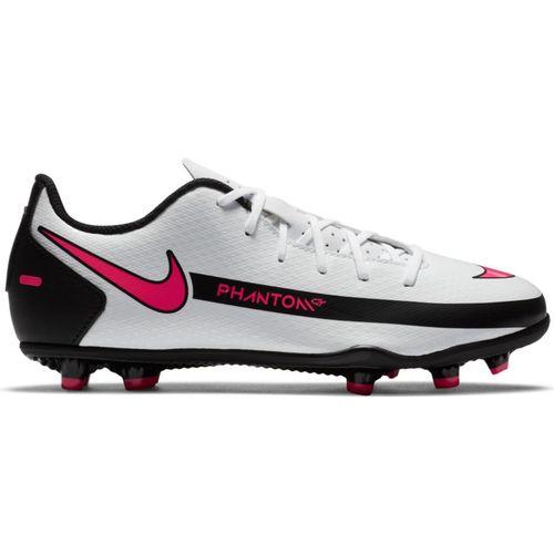Grade School Nike Jr. Phantom GT Club Multi-Ground Soccer Cleat (White/Pink)