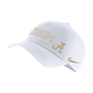 Nike Alabama Crimson Tide 2020 National Champions Locker Room Adjustable Hat (White)