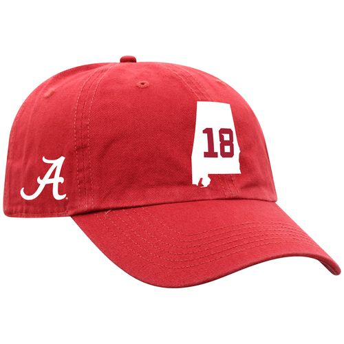 Alabama Crimson Tide 2020 18-Time National Champions State Design Adjustable Hat (Cardinal)