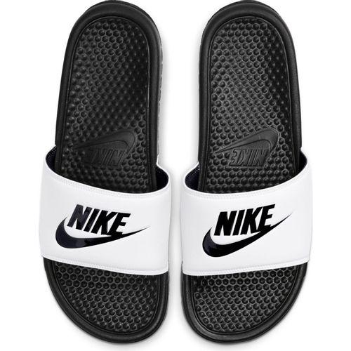 Men's Nike Benassi Just Do It Slide (White/Black)