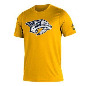 Men's Adidas Nashville Predators Reverse Retro Logo T-Shirt (Gold)