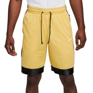Men's Nike Dri-FIT Elite Stripe Basketball Short (Gold/Black)