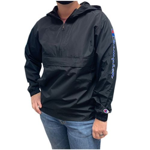 Youth Champion Packable Jacket (Black)