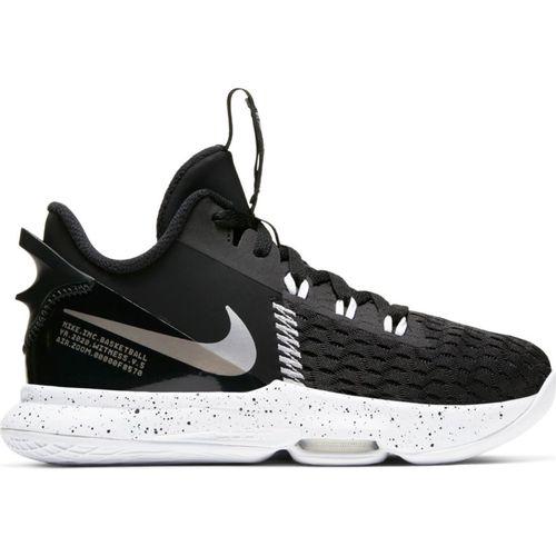 Grade School Nike LeBron Witness 5 (Black/Silver)