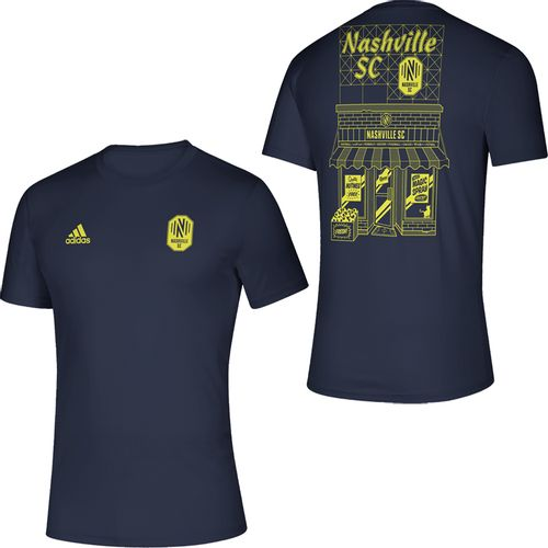 Men's Adidas Nashville Soccer Club Quality Mega T-Shirt (Navy)