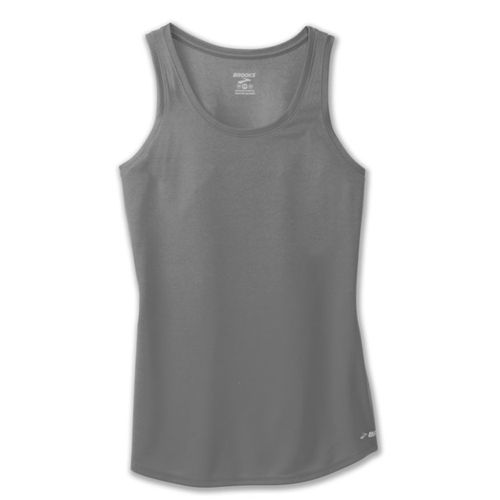 Women's Brooks Singlet Tank Top (Dark Grey Heather)