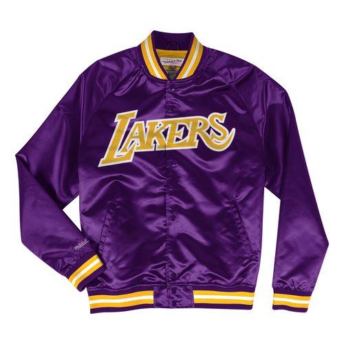 Men's Los Angeles Lakers Satin Jacket (Purple)