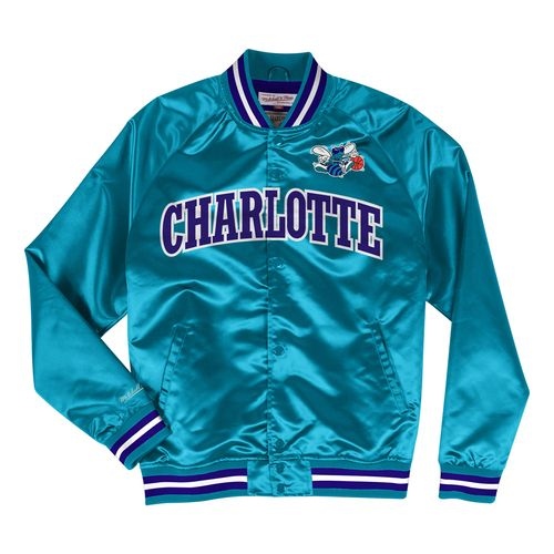 Men's Charlotte Hornets Satin Jacket (Teal)