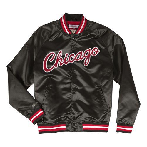 Men's Chicago Bulls Satin Jacket (Black)