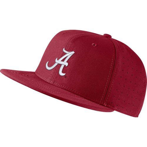 Nike Alabama Crimson Tide AeroBill Logo Fitted Hat (Crimson)