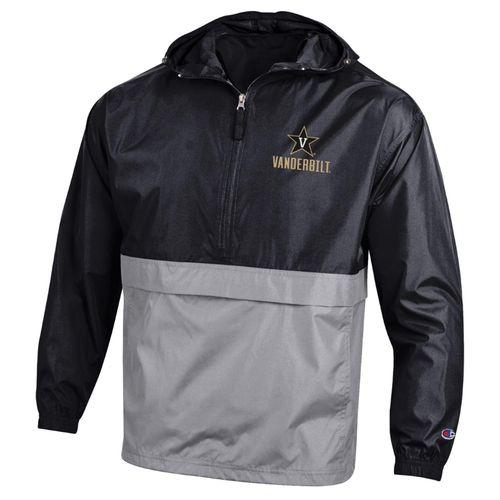 Men's Champion Vanderbilt Commodores Packable Jacket (Black/Grey)
