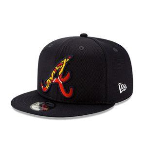 New Era Atlanta Braves Batting Practice 9Fifty Snapback Adjustable Hat (Navy)