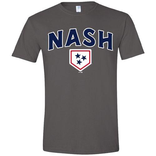 Men's Nashville Sounds Ringspun T-Shirt (Charcoal)