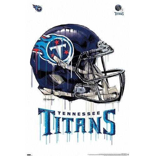 Tennessee Titans Helmet Drip Poster