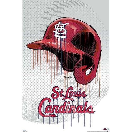 St. Louis Cardinals Helmet Drip Poster