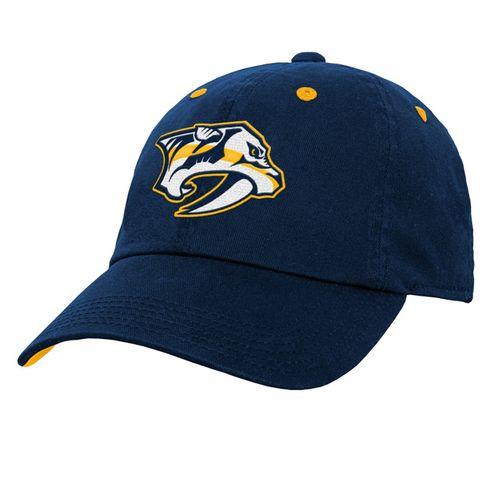 Youth Nashville Predators Slouch Adjustable Hat (Navy)