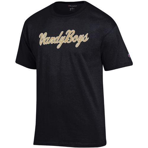 Men's Champion Vanderbilt Commodores Vandy Boys Wordmark T-Shirt (Black)