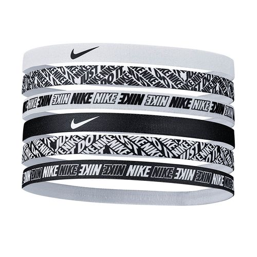 Women's Nike Printed Headbands - 6 Pack (White)