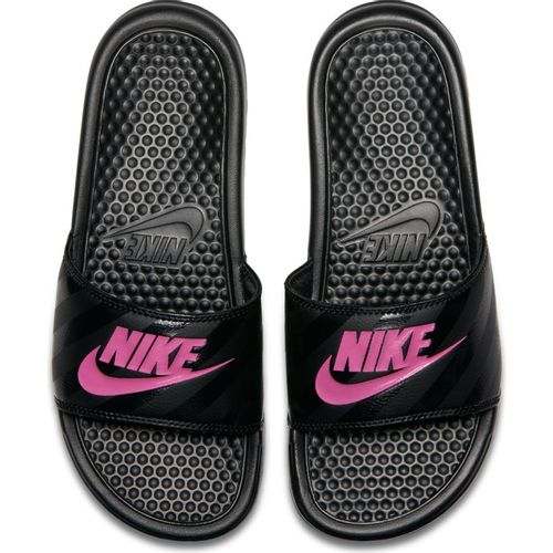 Women's Nike Benassi Just Do It Slide (Black/Pink)