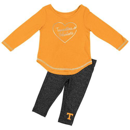 Infant Tennessee Volunteers Long Sleeve Leggings Set (Orange/Grey)