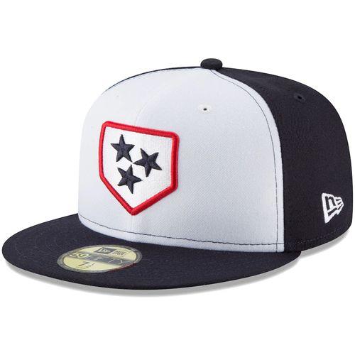New Era Nashville Sounds 59FIFTY Alternate Fitted Hat (White/Navy)