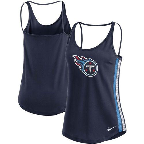 Women's Nike Tennessee Titans Dri-FIT Tank Top (Navy)