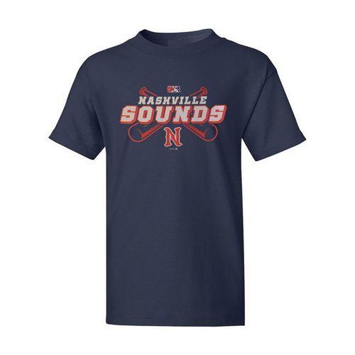 Youth Nashville Sounds Logo T-Shirt (Navy)