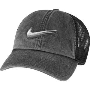 Nike Sportswear Heritage 86 Swoosh Trucker Adjustable Hat (Black)