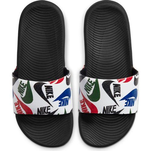 Grade School Nike Kawa SE Just Do It Slide (Black/White)
