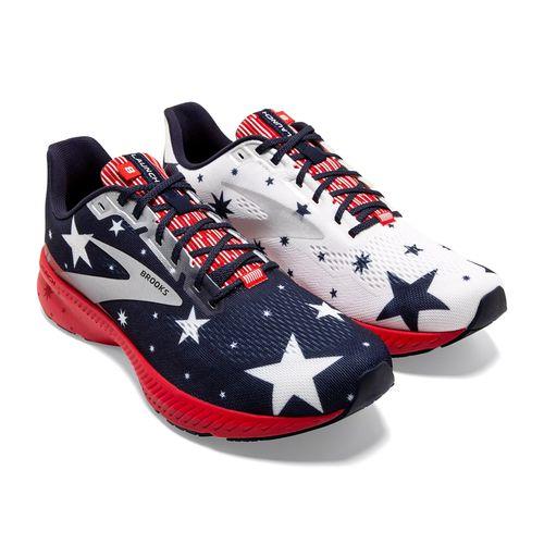 Women's Brooks Launch 8 Run USA (Blue/Red)
