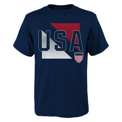 Men's USA Diagonal Shield T-Shirt (Navy)
