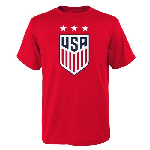 Youth USA Primary Logo T-Shirt (Red)
