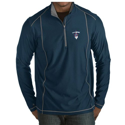 Men's Antigua Tennessee Titans Tempo Dagger 1/2 Zip-Up (Navy)