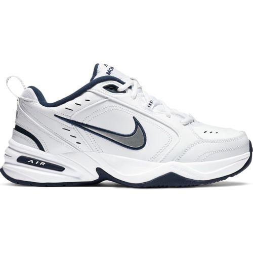 Men's Nike Air Monarch IV (White/Navy/Silver)