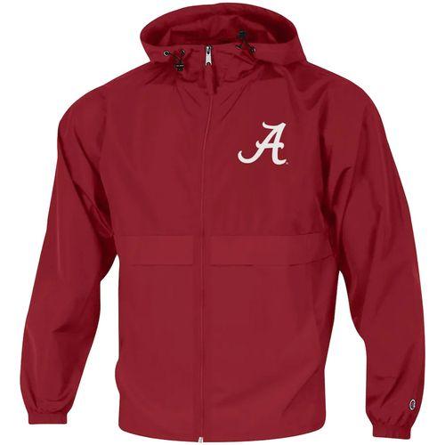 Men's Champion Alabama Crimson Tide Packable Full Zip Jacket (Crimson)