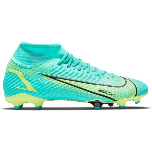 Men's Nike Mercurial Superfly 8 Academy Multi-Ground Soccer Cleat (Turquoise/Lime)