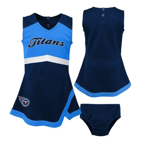 Infant Tennessee Titans Cheer Dress (Navy)