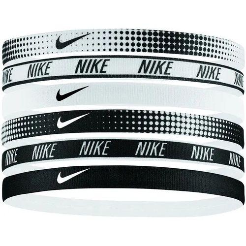 Nike Six Pack Printed Headbands (White/Black)