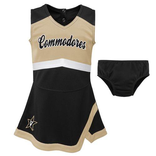 Kid's Vanderbilt Commodores Cheer Dress (Black/Gold)