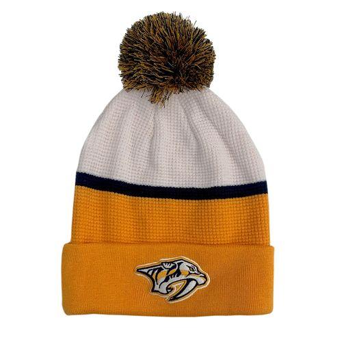 Fanatics Nashville Predators Cuff Knit Hat (White/Gold)