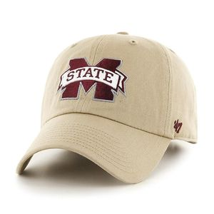 '47 Brand Mississippi State Bulldogs Clean Up Adjustable Hat (Khaki)