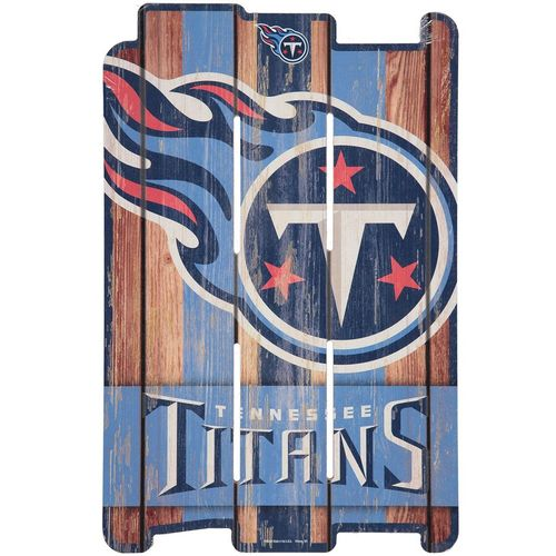 Tennessee Titans Wood Fence Sign (Blue/Navy)