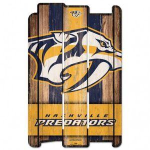 Nashville Predators Wood Fence Sign (Gold/Navy)
