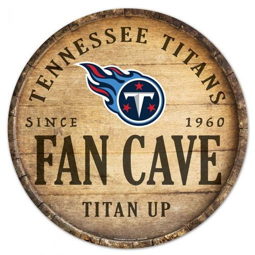 Tennessee Titans Fan Cave Round Sign