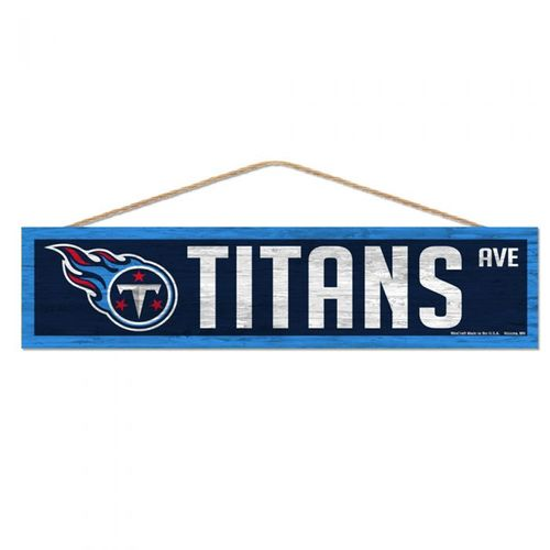Tennessee Titans Wooden Street Sign